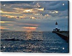 Sunrise In Duluth Acrylic Print