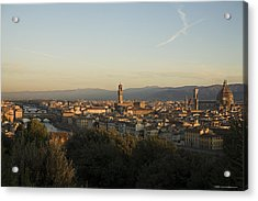 Sunrise In Florence Acrylic Print by Luigi Barbano BARBANO LLC