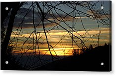 Sunrise In Fracture Acrylic Print