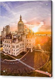 Sunrise In Hartford Connecticut Acrylic Print by Petr Hejl