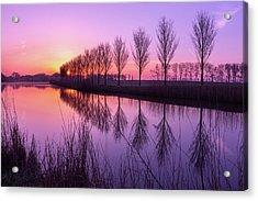 Sunrise In Holland Acrylic Print