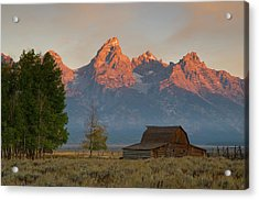Acrylic Print featuring the photograph Sunrise In Jackson Hole by Steve Stuller