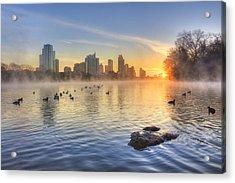 Sunrise In January Over Austin Texas 5 Acrylic Print
