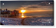 Sunrise In Maine Acrylic Print by David Bishop