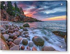 Sunrise In Monument Cove Acrylic Print by Rick Berk