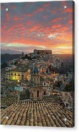 Sunrise In Ragusa Ibla Acrylic Print