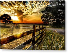 Sunrise In Summer Acrylic Print