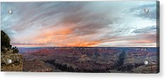 Sunrise In The Canyon Acrylic Print