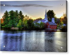 Sunrise In The Country - Harrisville Nh Acrylic Print