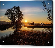 Sunrise In The Ditch Burlamacca Acrylic Print