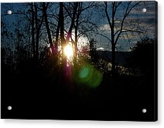 Sunrise In The Fall Acrylic Print by RonSher Brooks
