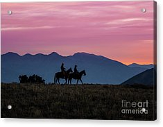 Sunrise In The Lost River Range Wild West Photography Art By Kay Acrylic Print