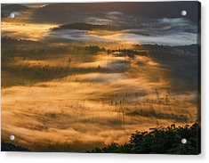 Sunrise In The Valley Acrylic Print