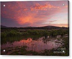 Sunrise In The Wichita Mountains Acrylic Print by Iris Greenwell