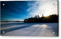 Sunrise In Winter Acrylic Print