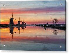 Sunrise Kinderdijk Acrylic Print