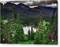 Sunrise Lake On A Cloudy Day Acrylic Print by Rick Berk