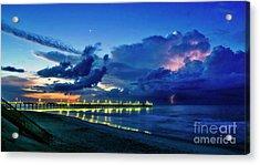 Sunrise Lightning Acrylic Print
