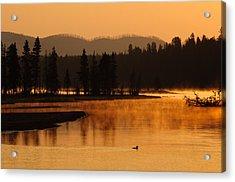 Sunrise Near Fishing Bridge In Yellowstone Acrylic Print