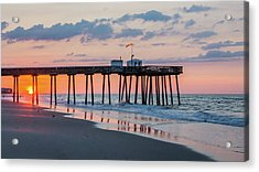 Sunrise Ocean City Fishing Pier Acrylic Print