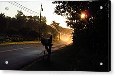Sunrise On A Country Road Acrylic Print