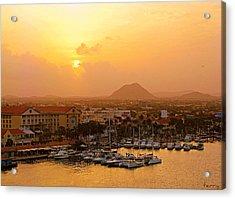 Sunrise On Aruba Acrylic Print