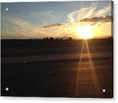 Sunrise On Asphalt Acrylic Print