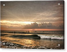 Sunrise On Carolina Beach North Carolina Acrylic Print