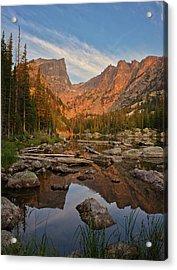 Sunrise On Dream Lake Acrylic Print