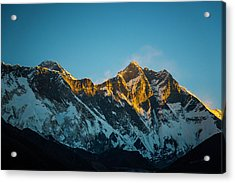 Acrylic Print featuring the photograph Sunrise On Everest by Owen Weber