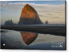 Sunrise On Haystack Rock - Oregon Acrylic Print