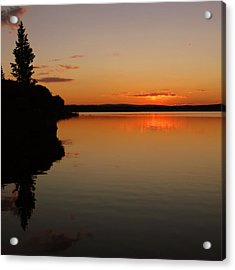 Sunrise On Heart Lake Acrylic Print
