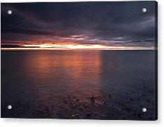 Sunrise On Killiney Beach Acrylic Print