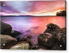 Sunrise On Lake Winnipesaukee Acrylic Print