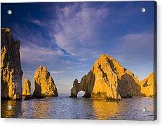 Sunrise On Lands End, Los Arcos Rock Acrylic Print by Ralph Lee Hopkins