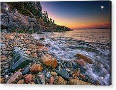 Sunrise On Little Hunters Beach Acrylic Print