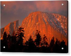 Sunrise On Long's Peak Acrylic Print