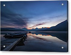 Acrylic Print featuring the photograph Sunrise On Mcdonald Lake by Lon Dittrick