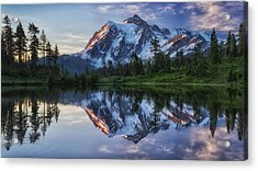 Sunrise On Mount Shuksan Acrylic Print by James K. Papp