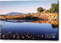 Sunrise On Nariel Creek Acrylic Print by Lexa Harpell
