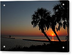 Acrylic Print featuring the photograph Sunrise On Pleasure Island by Judy Vincent