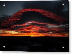 Sunrise On Rainier Acrylic Print