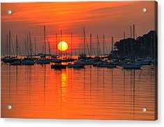 Sunrise On Salem Harbor Salem Ma Acrylic Print
