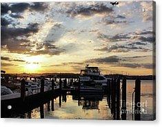 Sunrise On The Alexandria Waterfront Acrylic Print