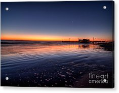 Sunrise On The Beach Acrylic Print by Michael Herb