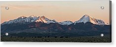 Sunrise On The Blanca Group Acrylic Print by Aaron Spong