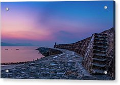Sunrise On The Cobb, Lyme Regis, Dorset, Uk. Acrylic Print