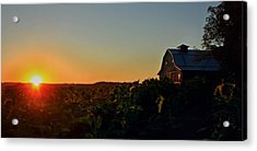 Acrylic Print featuring the photograph Sunrise On The Farm by Chris Berry