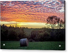Acrylic Print featuring the photograph Sunrise On The Farm by Wade Courtney