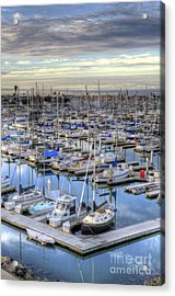 Sunrise On The Harbor Acrylic Print